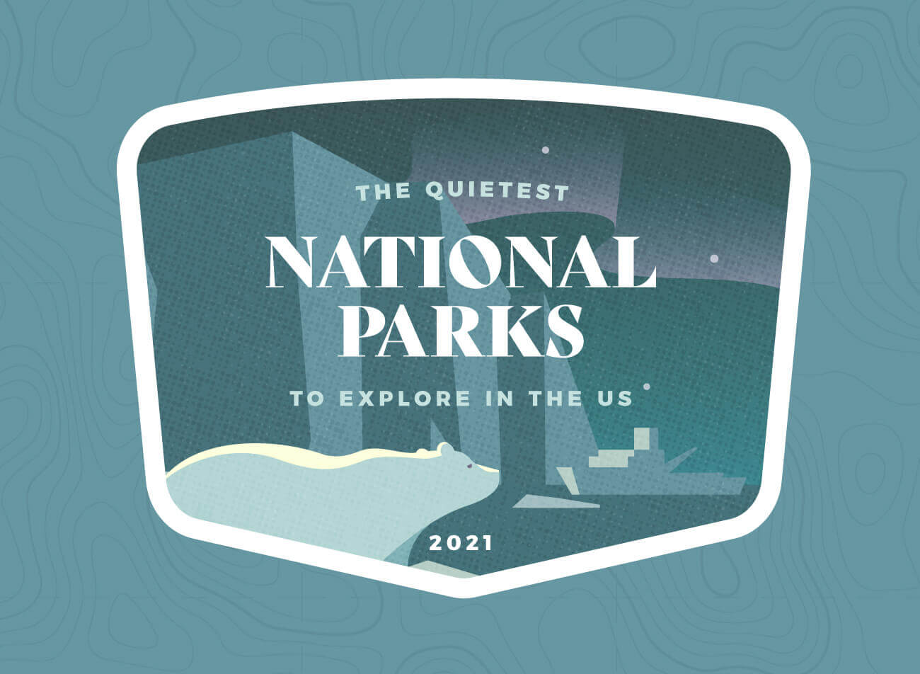 Header image for the quietest national parks in the US.