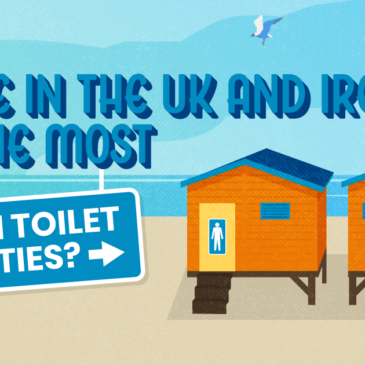 Where in the UK and Ireland has the most beaches with toilet facilities?